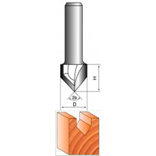 Фреза пазовая V-образная  8х10х10 - 90°