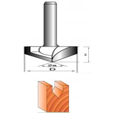 Фреза пазовая V-образная  8х40х9 - 150°